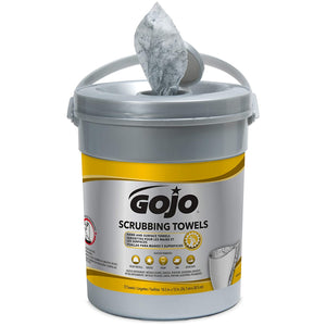 GOJO 6396-06 Scrubbing Wipes 72 Count Canister, Pack of 6