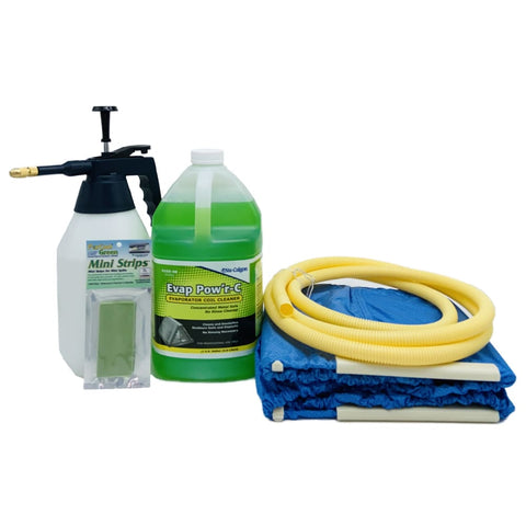 Image of Complete Mini Split Cleaning Kit Featuring Nu-Calgon Evap Pow'r C Coil Cleaner & CleanAir Odour Treatment Tab - coil cleaners