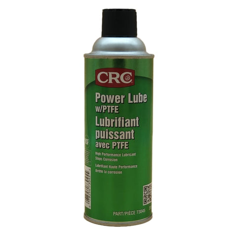CRC Power Lube Industrial High Performance Lubricant with PTFE 16 oz. (Net Weight: 11 oz) Aerosol Can Light Amber/White