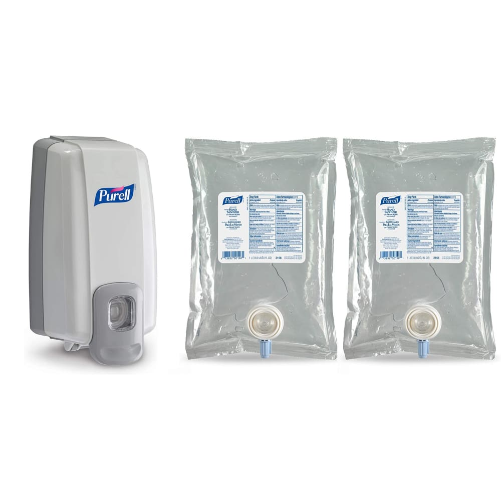 PURELL 2156D1 NXT Space Saver Hand Sanitizer Dispenser & Two 1000ml Refills - Health & Safety