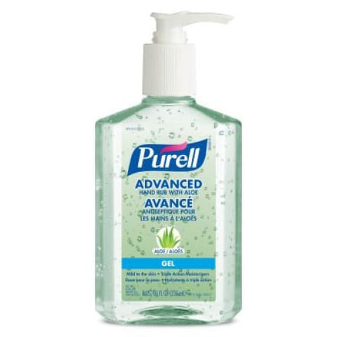 PURELL® Advanced Hand Rub with Aloe 236 ml Table Top Pump Bottle (Pack of 6) - Health & Safety