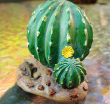 Load image into Gallery viewer, Cactus with Yellow Flower and Lizard | Fairy Garden MG