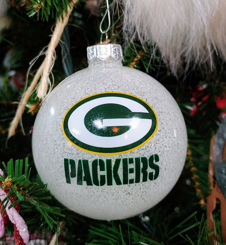 Wisconsin Green Bay Packer LED Holiday Ornament - Christmas Ornament