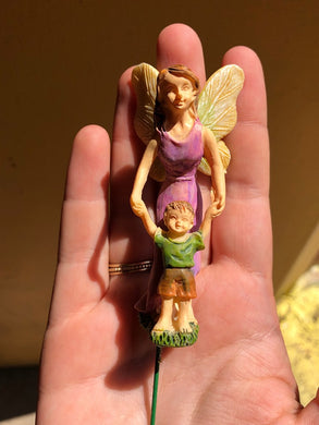 Mother Walking Son Fairy