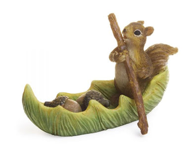 Fairy Squirrel canoeing