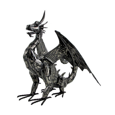 2' metal filagree dragon