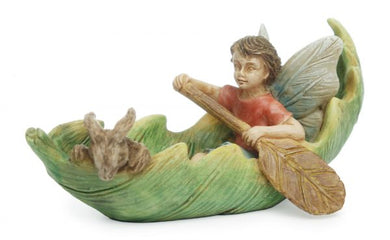 Fairy Garden Boy in Canoe with friends | MG 130