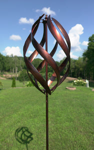 Copper Stratus metal kinetic wind spinner