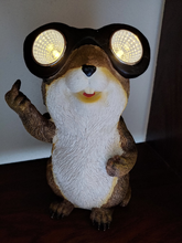 Load image into Gallery viewer, Friendly Solar Chipmunk letting us know he is Number One | Solar | Gopher