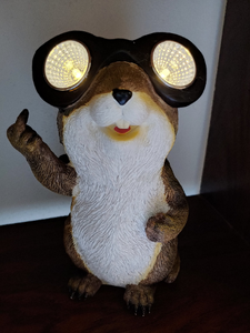 Friendly Solar Chipmunk letting us know he is Number One | Solar | Gopher