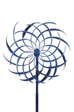 Load image into Gallery viewer, Blue Wind Spinner | spinners both directions| Windswept | garden art | wind sculpture | blue
