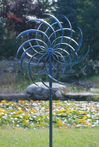 Blue Wind Spinner | spinners both directions| Windswept | garden art | wind sculpture | blue