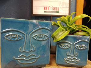 "2 SQUARE FACE PLANTERS | 4.5"" TALL 