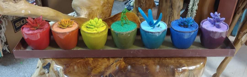 Rainbow Small Ceramic Planter Pots - 7 colors available