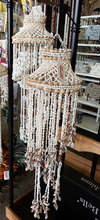 Load image into Gallery viewer, Brownish Spiral 40 inch Vintage Bohemian Canopy Sea Shell Hanging Wind Chime, Shell Mobile