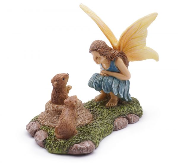 Fairy Garden Fairy |  NEW | gophers looking for some small talk | Miniature Supply |accessories