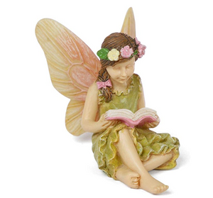 Sweet Fairy Sitting and Reading a Book MG276