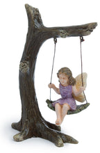 Load image into Gallery viewer, Fairy girl sitting in a tree swing in pink dress - MG12