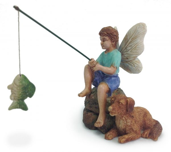 Fairy Garden Boy fishing