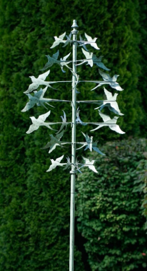 Garden Wind Spinner Green with birds | Wind Sculpture