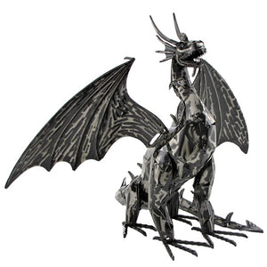 """Heraclius"" 2' metal filagree dragon"