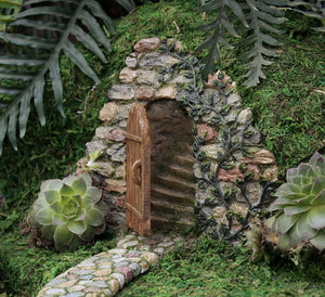 Hidden Stairs Doorway for Cobblestone wall For Miniature Gardens Indoor | Outdoor - MG10