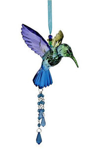 Five Tone Hanging Acrylic Hummingbird Ornament in 6 Assorted Colors