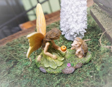 Load image into Gallery viewer, Fairy Feeding the HedgeHog an apple MG374