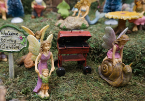 Fairy Garden Fairy | Mom teaching her boy his first steps |  - Miniature Fairy Garden Supply