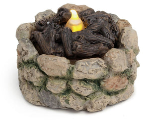 Fairy Garden | realistic fire pit | battery operated camp fire | best seller