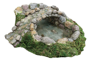 Fairy Garden  pond or small lake with a bridge