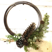 "Load image into Gallery viewer, Hoop wreath frame | Metal Folding Spheres | Various Sizes Available | Collapsible Bands | Metal Orb 8"", 12"" , 16"" and 20"" 