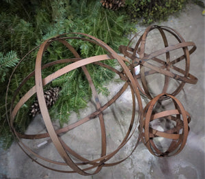 "Hoop wreath frame | Metal Folding Spheres | Various Sizes Available | Collapsible Bands | Metal Orb 8"", 12"" , 16"" and 20"" 