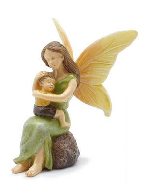 Fairy Mom Holding Her Cherished Son