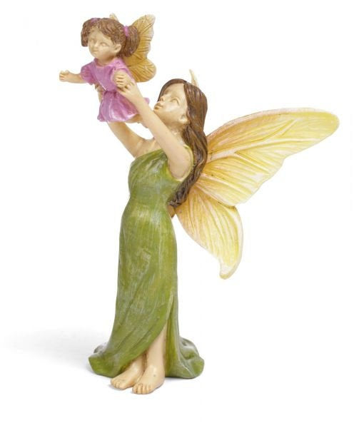 Fairy Garden Fairy | Mom holding her daughter in the air |  |Miniature Supply Accessories First flight MG358