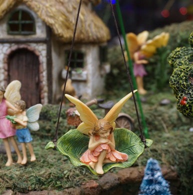 Fairy on Leaf Swing