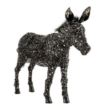 Load image into Gallery viewer, 3' Filigree Metal Donkey Planter
