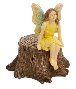Garden Fairy on Stump with secret opening | MG322