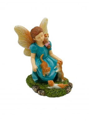 Little girl covered in kittens! Adorable little fairy | Miniature NEW 2020