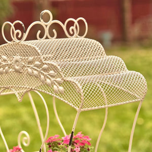 Cinderella Carriage | Luciana | Available in white or antique bronze | Wedding | Planter | Metal