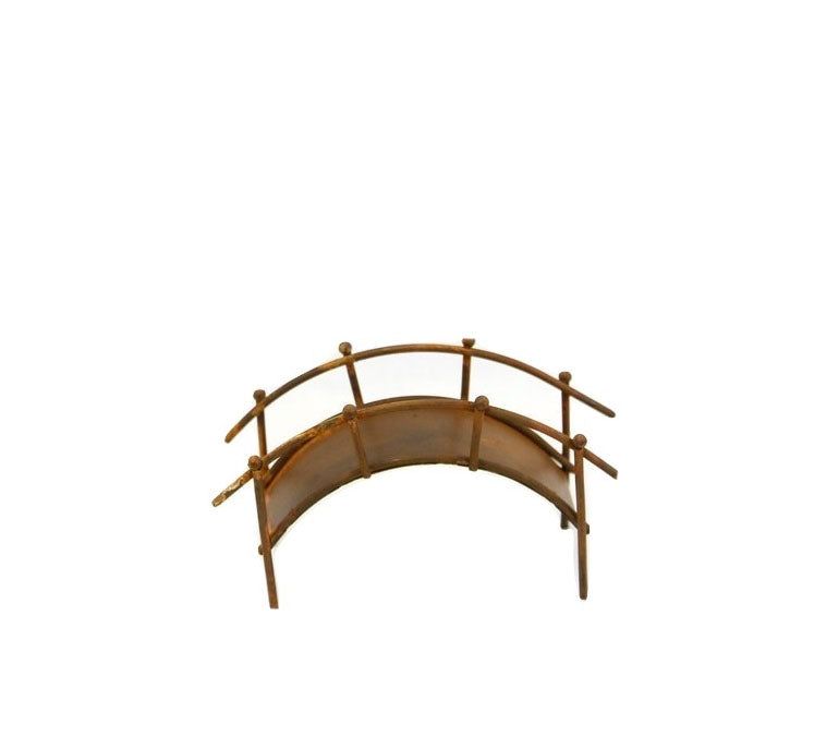 Fairy Garden Fairy |  Rusty Metal Bridge with Railing | Miniature Supply | accessories