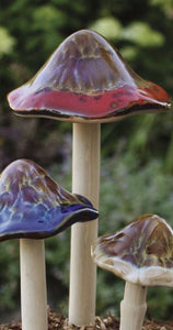 Ceramic Mushrooms for Garden Medium
