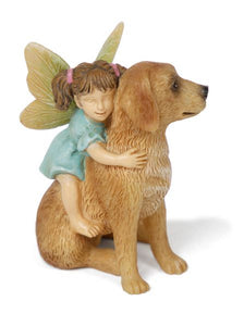 Girl Fairy with Dog | Ready for Ride | MG278