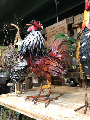 Large Metal Iron Rooster