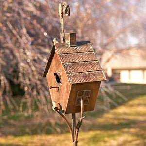 "Copper Bird House ""Sherry"""