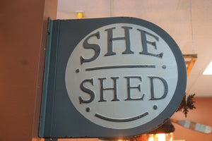 She SHED sign | Metal | A must have!  Vintage retro look