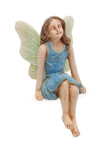 Sitting Fairy in blue dress MG129