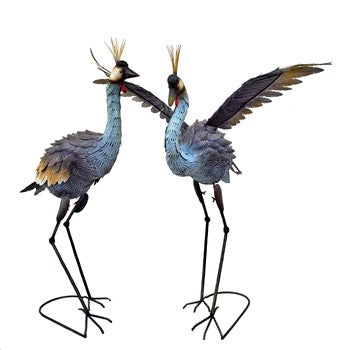 Dancing Crane Sculptures Set of 2 NEW 2020