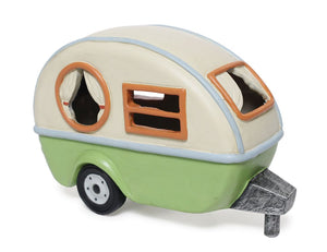 Camping Trailer with Solar light for your Fairy Garden