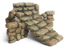 "Load image into Gallery viewer, Fairy Garden Accessories | Fairy Garden Stairs | 6"" Cobblestone stairs in stone wall"